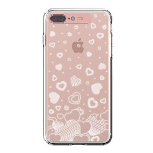 LIGHT UP CASE iPhone 8 Plus / 7Plus Soft Lighting Clear Case Heart (ローズゴールド)