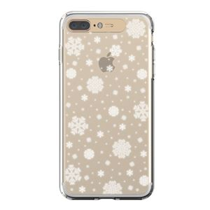 LIGHT UP CASE iPhone 8 Plus / 7Plus Soft Lighting Clear Case Snow (ゴールド)
