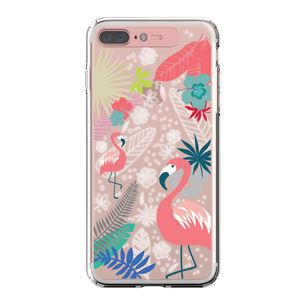 LIGHT UP CASE iPhone 8 Plus / 7Plus Soft Lighting Clear Case Flower Flamingo (ローズゴールド)