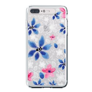 LIGHT UP CASE iPhone 8 Plus / 7Plus Soft Lighting Clear Case Flower Gardenia (シルバー)