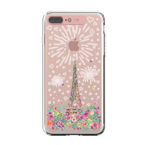 LIGHT UP CASE iPhone 8 Plus / 7Plus Soft Lighting Clear Case Landmark Paris (ローズゴールド)