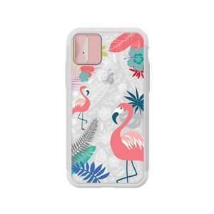 LIGHT UP CASE iPhone XS / X Lighting Shield Case Flower Flamingo (ローズゴールド)