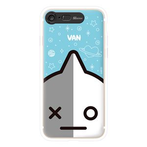 SG Design iPhone 8/7 BT21 GRAPHIC LIGHT UP CASE FACE VAN