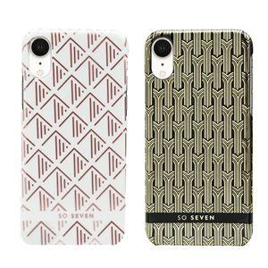 SO SEVEN iPhone XR SO SEVEN FASHION PARIS WHITE/ ROSEGOLD TRIANGLE
