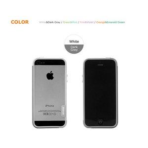【iPhone5ケース】Walnutt Bumper Trio Art Card  W1611i5 ホワイト+ダークグレー