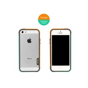 【iPhone5ケース】Walnutt Bumper Trio Art Card W1614i5 オレンジ+エメラルドグリーン