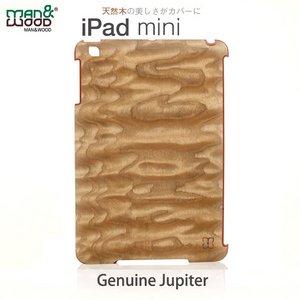 【man&wood】(iPad miniケース) Real wood case Genuine Jupiter