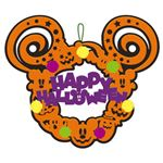 【パーティーグッズ】【ハロウィン】RUBIE'S(ルービーズ) 95171 Felt Wreath Mickey ハロウィンリース ミッキー