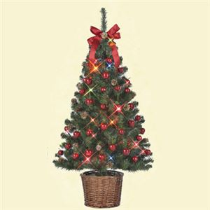 【クリスマス】セットツリー アップル バスケット付き 120cm