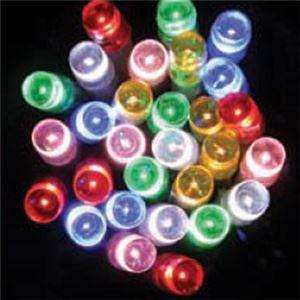 【クリスマス】LED 100球防雨マルチカラー6色/ブラックコード