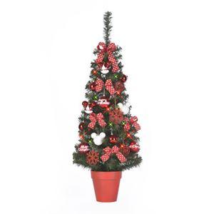 【クリスマス】ディズニー セットツリー レッド&ホワイト 120cm