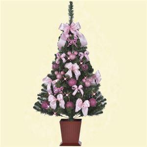 【クリスマス】ディズニー セットツリー ピンク&パープル 135cm
