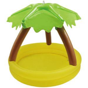 【ビーチグッズ】サンシェードプール 100cm ヤシの木 シャワー付