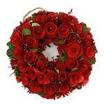 【クリスマス】ナチュラルリース フラワー 25cm