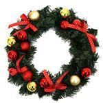 【クリスマス】リース レッドゴールド 25cm
