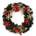 【クリスマス】リース スノーベル 35cm