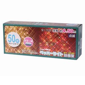 【クリスマス】防雨コネクター付 ペッパー50球 G/カラー