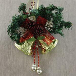 【クリスマス】ドアスワッグ ハーフツインベル 30cm