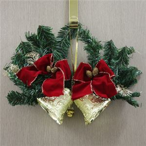 【クリスマス】ドアスワッグ ツインベル 40cm