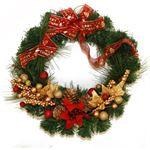 【クリスマス】リースポインセチア30cm