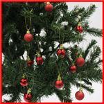 【クリスマス】プラボールセット30mm×24ヶレッドmix