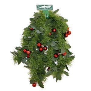 【クリスマス】ヒイラギモール 6インチ ボール付グリーン