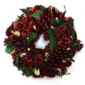 【クリスマス】ナチュラルリース レッドパイン 23cm
