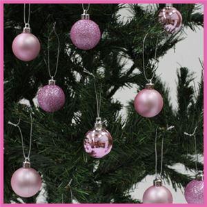 【クリスマス】プラボールセット ピンク 40mm(20個入)