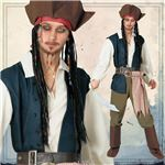 ディズニーコスプレ/コスプレ衣装 【Adult Jack Sparrow ジャックスパロウ】 大人用 〔ハロウィン イベント〕