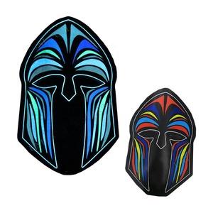 コスプレ衣装/コスチューム 【光るマスク EL mask human】 電池式 連続使用時間4h 〔ハロウィン イベント〕