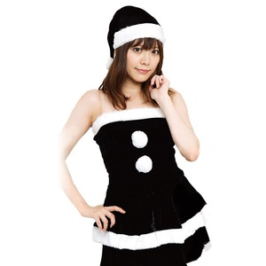 【クリスマスコスプレ 衣装】Ladie's Santa costume BLACK VELVET レディースブラックサンタ