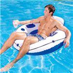 うきわ型 フロート/浮き輪 【直径約106cm×高さ約45cm】 修復パッチ×1付き Luxury Lounge 〔プール ビーチ〕