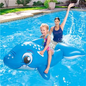 イルカ型 フロート/浮き輪 【縦約149cm×横約80cm×高さ約59cm】 ポリ塩化ビニル Dolphin Ride-on 〔プール ビーチ〕