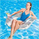 チェア型 フロート/浮き輪 【クリア】 縦約83cm×横約84cm×高さ約23cm Flip-Pillow Lounge クリアー 〔プール ビーチ〕