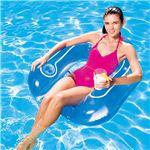 チェア型 フロート/浮き輪 【ブルー】 縦約83cm×横約84cm×高さ約23cm Flip-Pillow Lounge 〔プール ビーチ〕