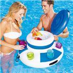 水に浮かぶクーラーボックス 【直径約67cm×高さ約42cm】 補修パッチ×1付き 『FLOATING COOLER』 〔プール 海水浴〕
