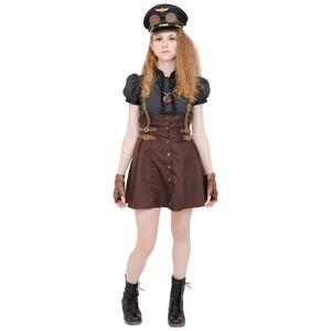 コスプレ衣装/コスチューム 【Military Girl ミリタリーガール】 ゴーグル ネックレス グローブ付き 『STEAMPUNK』
