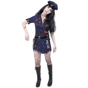 コスプレ衣装/コスチューム 【Police Girl ゾンビポリスガール】 ポリエステル 『ZOMBIE COLLECTION Zombie』 〔ハロウィン〕