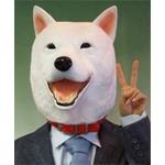 【コスプレ】白犬マスク