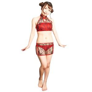 コスプレ水着/コスチューム 【Black Chinese dress (ブラックチャイニーズドレス)】 『Coswim』 〔フェス イベント ライブ〕