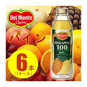 【まとめ買い】デルモンテ パイナップルジュース 瓶 750ml×6本(1ケース)