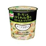 【まとめ買い】味の素 クノール スープDELI サーモンとほうれん草のクリームスープパスタ 40.3g×24カップ(6カップ×4ケース)