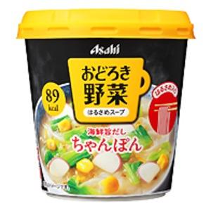 【まとめ買い】アサヒフーズ おどろき野菜 ちゃんぽん 24カップ入り(6カップ×4ケース)