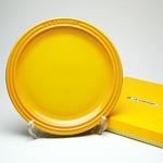 ル・クルーゼ (Le Creuset)  ラウンドプレート・LC 23cm ディジョンイエロー