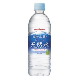 【まとめ買い】ポッカサッポロ 富士山麓のおいしい天然水 530ml ペットボトル 24本入り(1ケース)