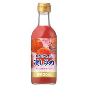 【まとめ買い】ポッカサッポロ お酒にプラス 潰しうめ 300ml 瓶 24本入り【12本×2ケース】