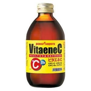 【まとめ買い】ポッカサッポロ ビタエネC 240ml 瓶 24本入り(1ケース)