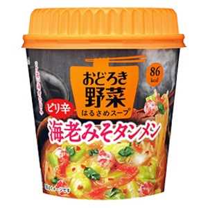 【まとめ買い】アサヒフーズ おどろき野菜 ピリ辛海老みそタンメン 24カップ入り(6カップ×4ケース)