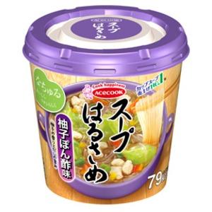 【まとめ買い】エースコック スープはるさめ 柚子ぽん酢味 32g×24カップ(6カップ×4ケース)