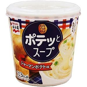 【まとめ買い】永谷園 ポテッとスープ ジャーマンポテト味 26.2g×24カップ(6カップ×4ケース)